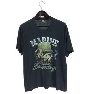 ROTHCO Marines Bulldogs T-shirt XL Vintage 1989
